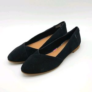 Toms Leather Upper Flats